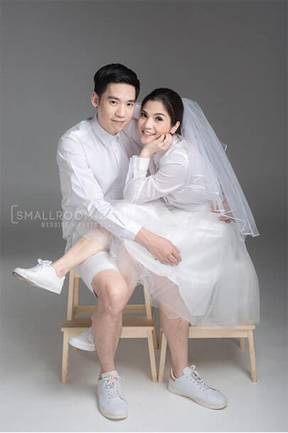 Pre wedding studio ชุดขาวแนวมินิมอล
